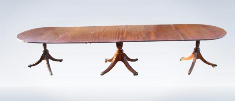 12ft-Long-Narrow-antique-Regency-Pedestal-Dining-Table-34-P1