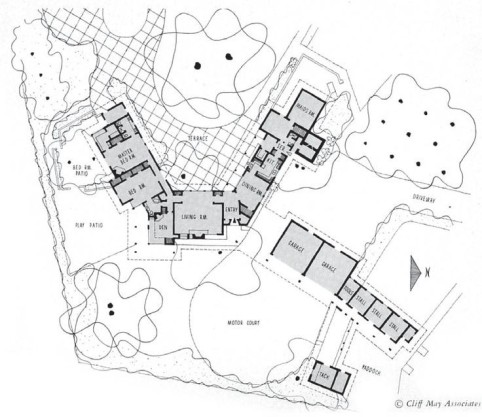 Cliff May Floor Plans New 9 best Rambling Plans images on Pinterest