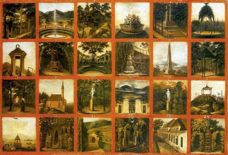 János_Rombauer_-_English_Garden_in_the_Csáky_Castle_at_Hotkóc_-_WGA20009.jpg